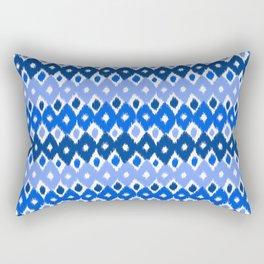 Ikat pattern blue Rectangular Pillow