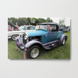 1929, blue, ford, car, vehicle, transportation, vintage, classic Metal Print