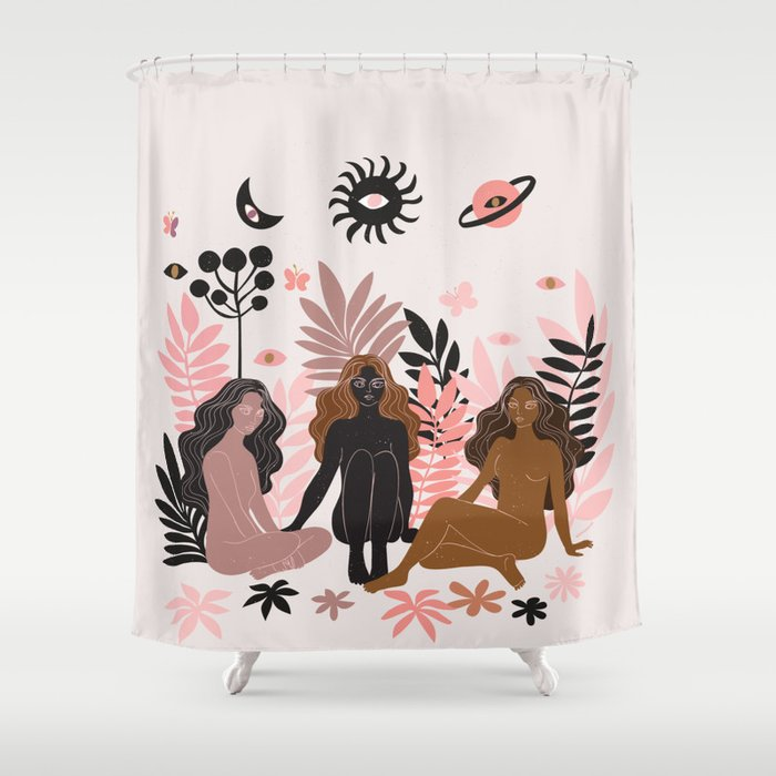 being here now Shower Curtain