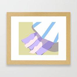 BEACH BLANKET Framed Art Print