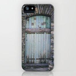 Old Blue Door II iPhone Case