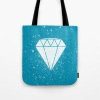 Space Diamond (blue) Tote Bag