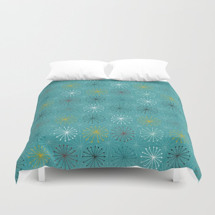 seedheads blue Duvet Cover