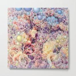 Bubble Flower Mix 3 Metal Print
