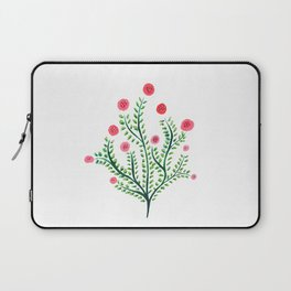 Abstract Spring Plant In Pink And Green Laptop Sleeve