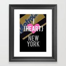 I Heart New York Framed Art Print