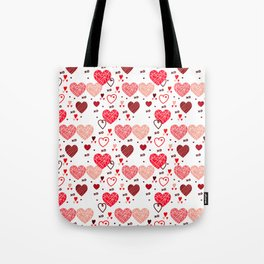 Valentines hears and love symbols pattern Tote Bag