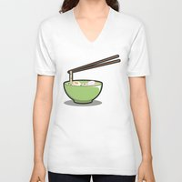 ramen V-neck T-shirts featuring Food Lantern - Ramen by binario