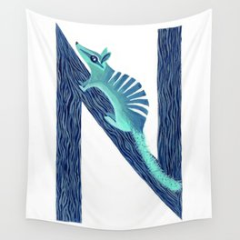 N is for Numbat Letter Alphabet Decor Design Art Pattern Wall Tapestry