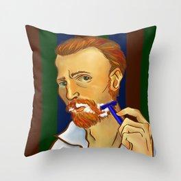 Vincent van Gogh Loves Shaving Throw Pillow