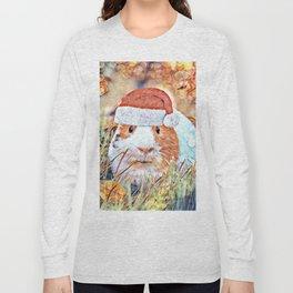 Aquarell Christmas Guinea Pig Long Sleeve T-shirt