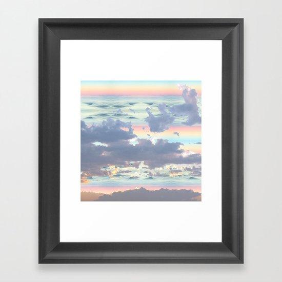 Pastel Ocean Sky Framed Art Print