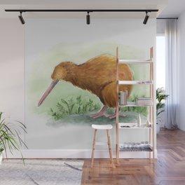 Kiwi - NZ bird watercolor Wall Mural