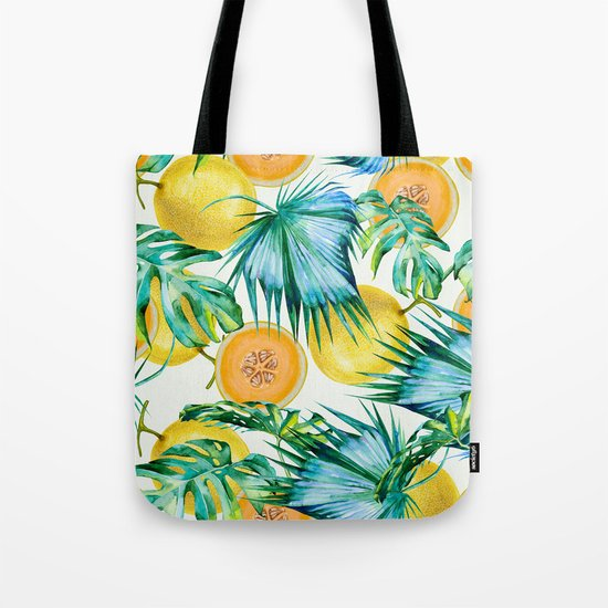 Leaf and melon pattern Tote Bag