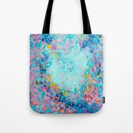 Follow my heart, Abstract Painting Tote Bag