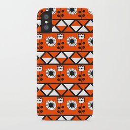 Shapes and flowers iPhone Case