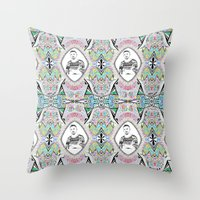 ryan gosling Throw Pillows featuring Promise me gosling  by sarah illustration