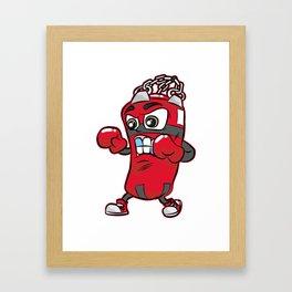 PUNCHING BAG GUY Boxing Boxer Cartoon Comic Gift Framed Art Print