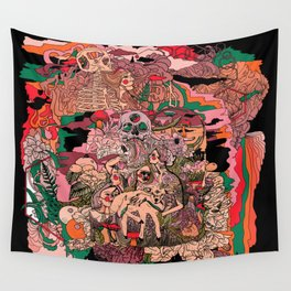 Village of Forest Wall Tapestry