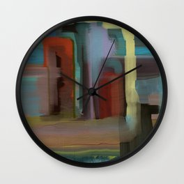 Abstract City, Southwestern Colors Wall Clock