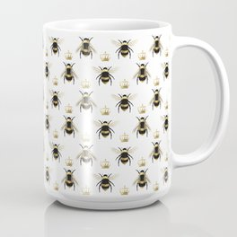 Gold Queen bee / girl power bumble bee pattern Coffee Mug
