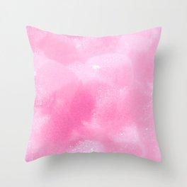 Light Pink Foam Plastic Texture Throw Pillow