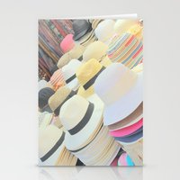 hats Stationery Cards featuring Hats by Eva Lesko