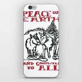 Peace on earth 2014 III iPhone Skin