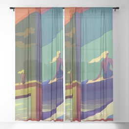 Timing Summer Memories Sheer Curtain