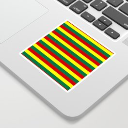 red green yellow stripes Sticker