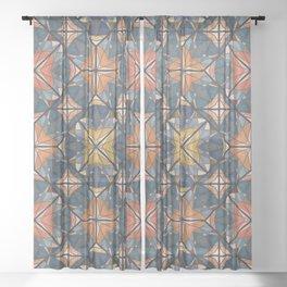 Mexican Tile Sheer Curtain