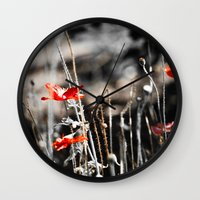 sin city Wall Clocks featuring Sin City by Irène Sneddon