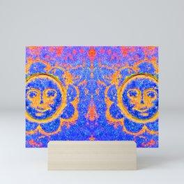 Eternal sunshine (mug | blue and gold) Mini Art Print