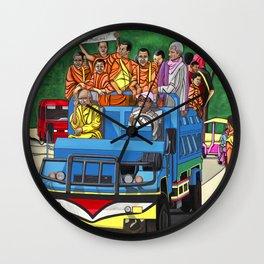 Truckin' Monks Wall Clock