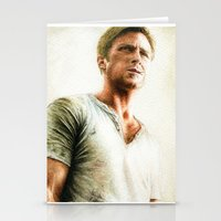 ryan gosling Stationery Cards featuring Ryan Gosling - Drive by Hilary Rodzik