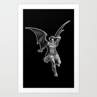 satan Art Prints featuring Satan by TheMessianicManic