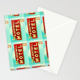 Restwell Motel Sign  Stationery Cards