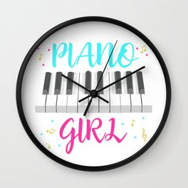 Pianist Girl Wall Clock