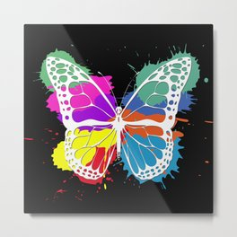 Grunge butterfly Metal Print