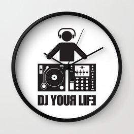 DJ your life Wall Clock