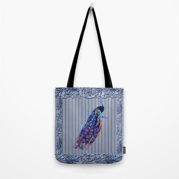 Splendor Peacock Fantasy Victorian Accents Tote Bag
