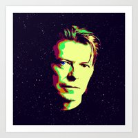 david bowie Art Prints featuring Bowie by victorygarlic