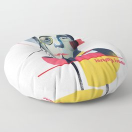 Famous people in a bauhaus style - Jerony Irons Floor Pillow