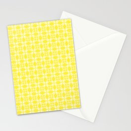 Yellow and White Mediterranean Patterned Tile Stationery Cards