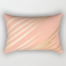Sweet Life Swish Peach Coral + Orange Sherbet Rectangular Pillow