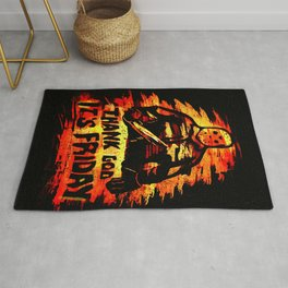 Jason Voorhees TGIF - Thank God its Friday the 13th  Rug
