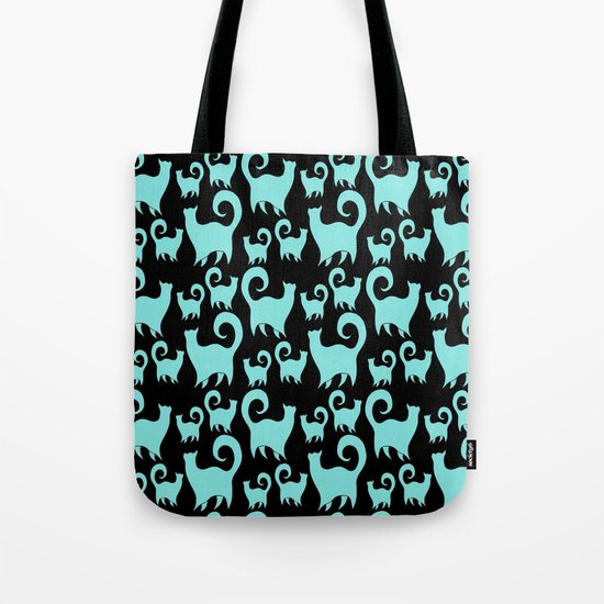 BLUE SNOBBY CATS Tote Bag