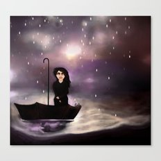 Floating through a coloured perfect world. Canvas Print