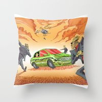 agents of shield Throw Pillows featuring CIA Agents! by Moshik Gulst