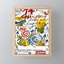 Advertisement 14ieme championnat suisse de sport Framed Mini Art Print
